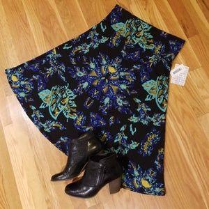 NWT LuLaRoe Azure Skirt, sz XL